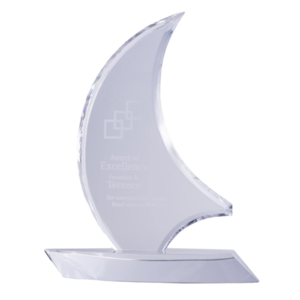Crystal Sail Boat Award