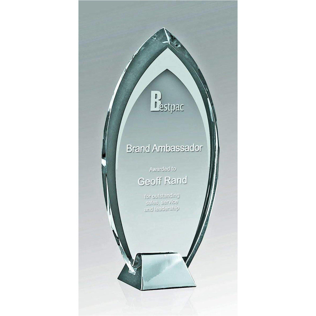 Silver Ice Flame Crystal Award freeshipping - The Trophy Superstore