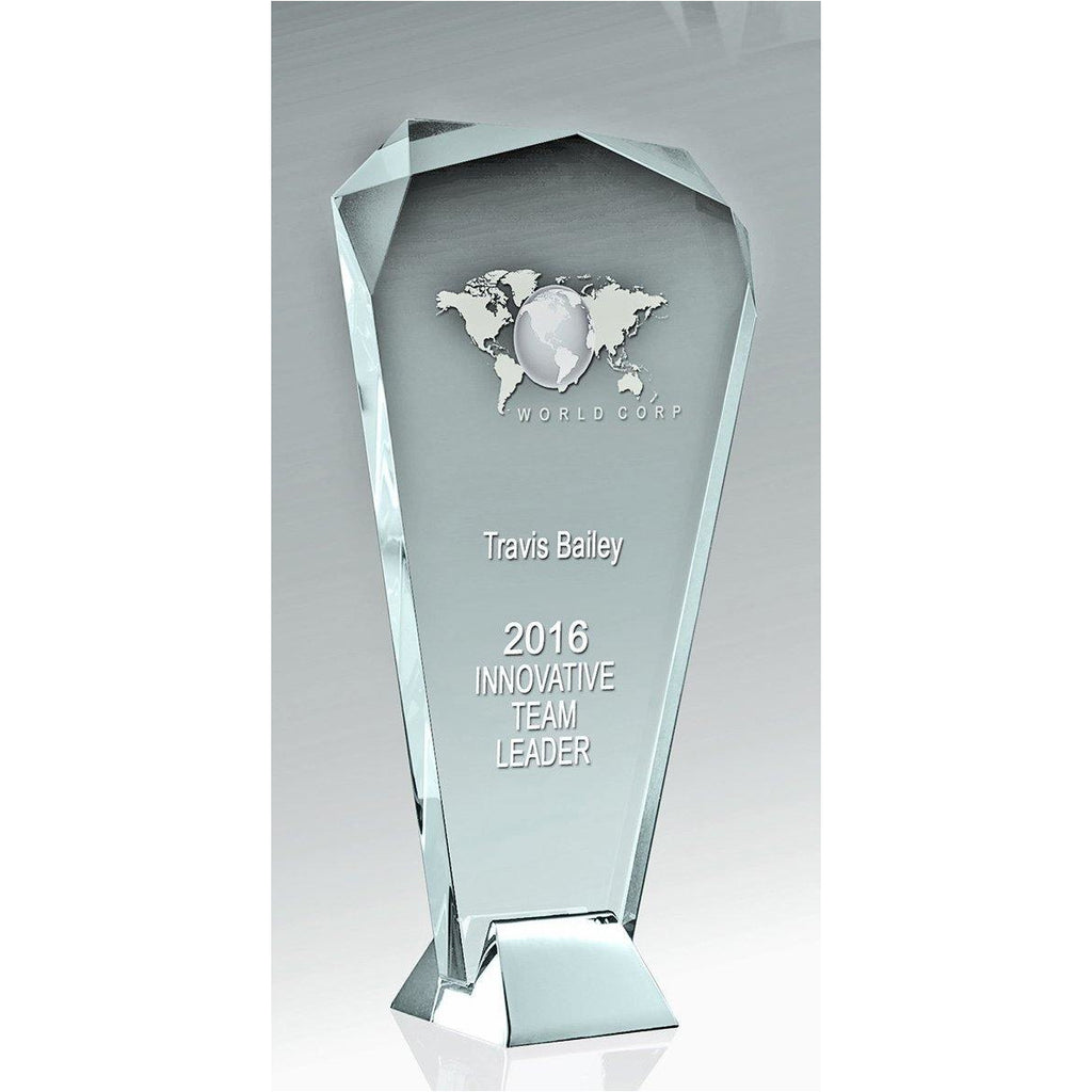 Silver Ice Arch Crystal Trophy available in three sizes