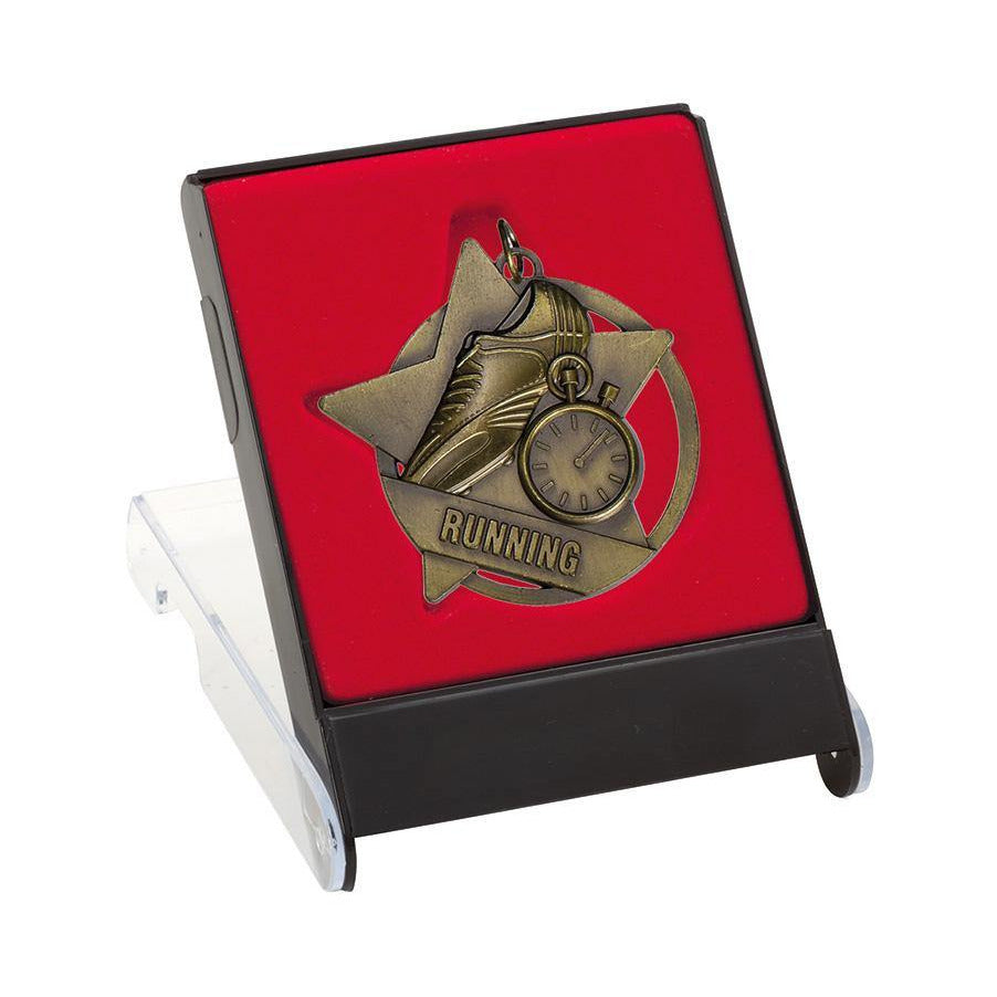 Self Standing Red/Black Medal Cases freeshipping - The Trophy Superstore