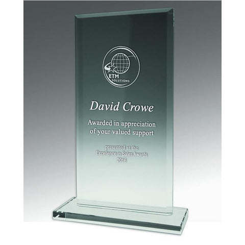 Image of Value Crystal Rectangle Trophy freeshipping - The Trophy Superstore