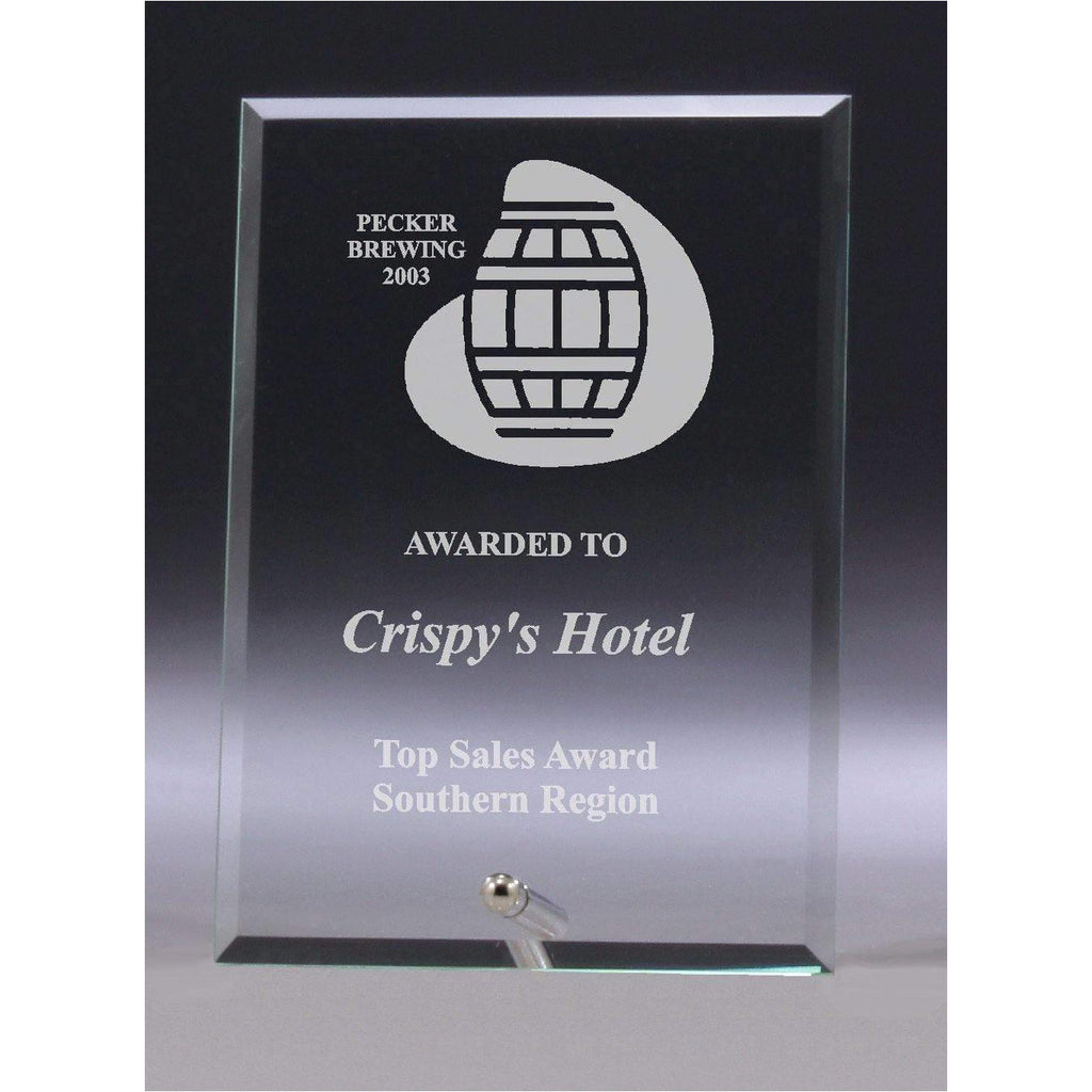 Clear Glass Plaque - 150mm - The Trophy Superstore
