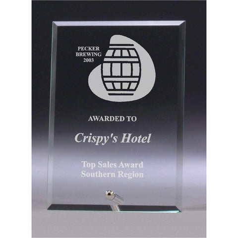 Clear Glass Plaque freeshipping - The Trophy Superstore
