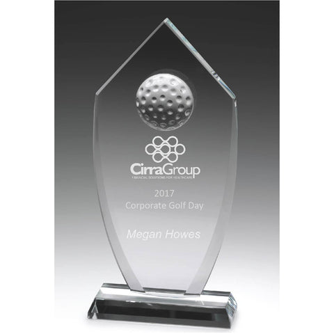 Glass Budget Golfing Shield freeshipping - The Trophy Superstore