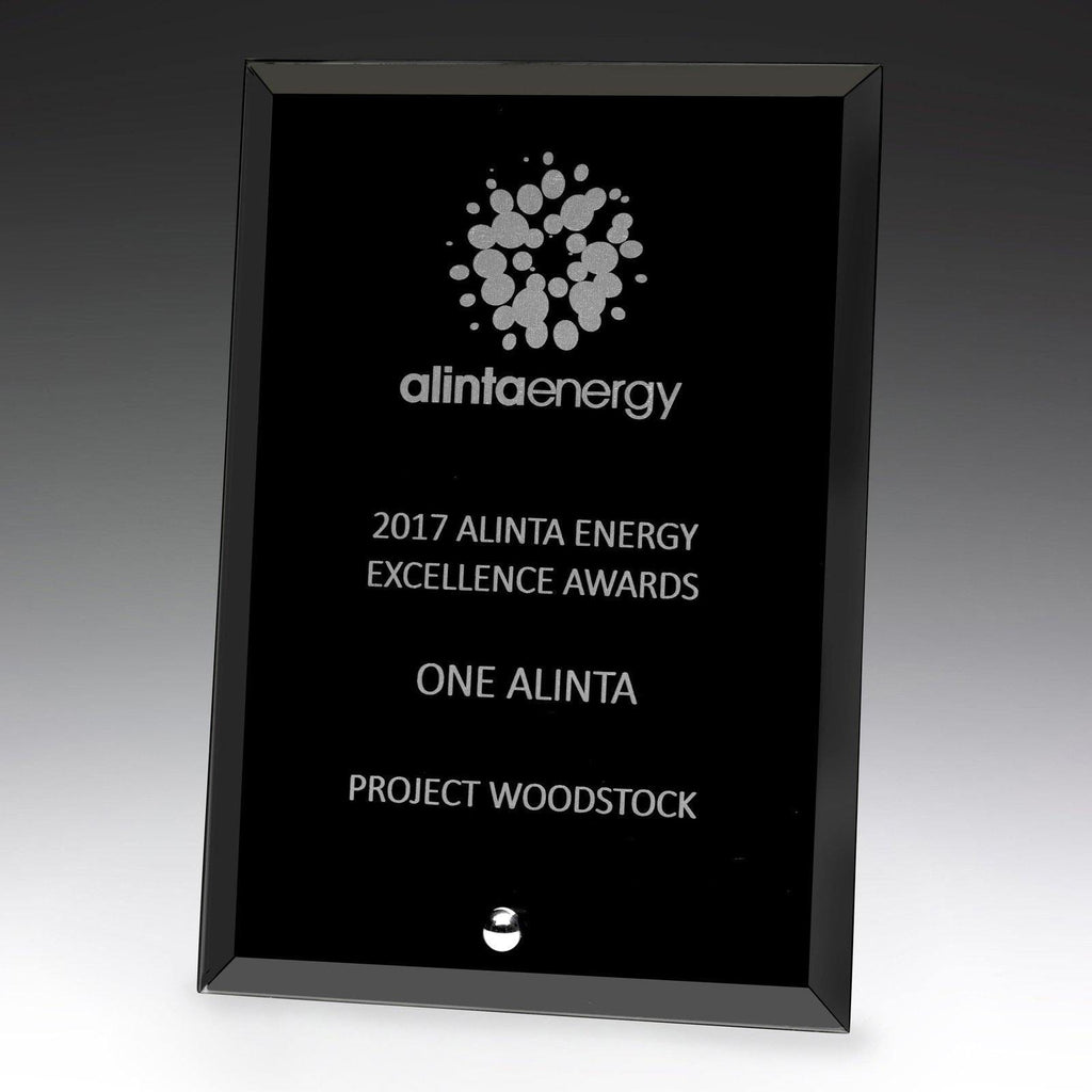 Craft Glass Plaque Black freeshipping - The Trophy Superstore