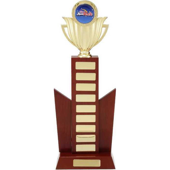 Winged Wooden Perpetual Trophy freeshipping - The Trophy Superstore
