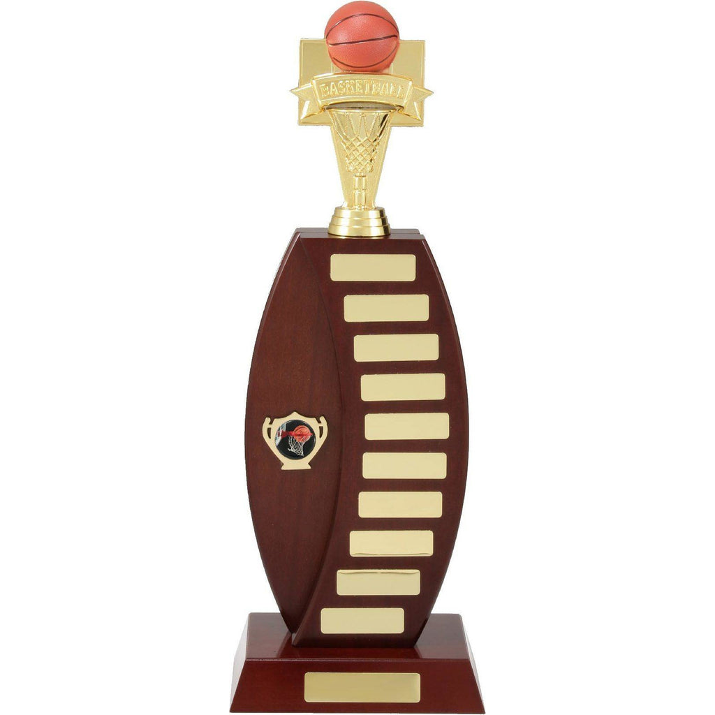Curved Timber Perpetual Trophy only one size available - The Trophy Superstore