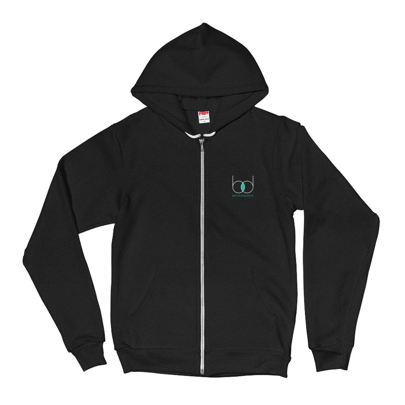 because data nerdy zip-up hoodie data science machine learning AI