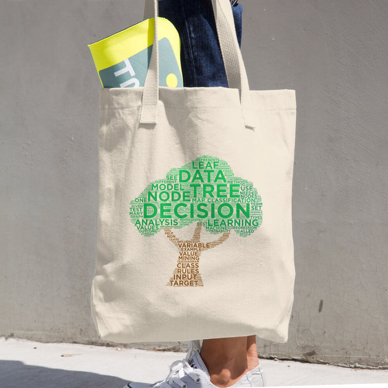 Decision Tree Cotton Tote Bag