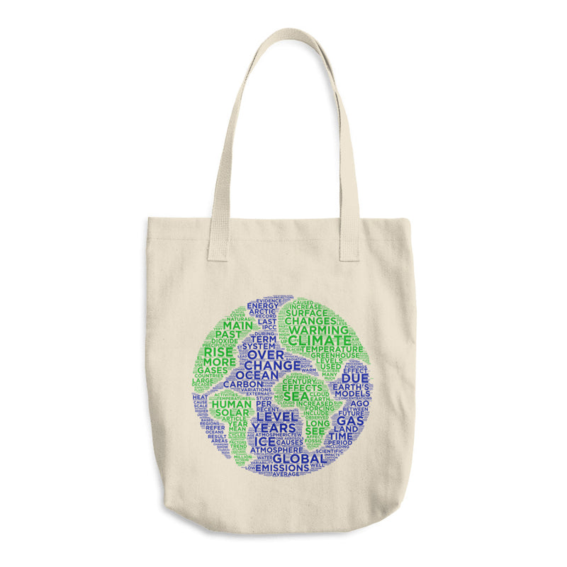 Climate Change becausedata Cotton Tote Bag