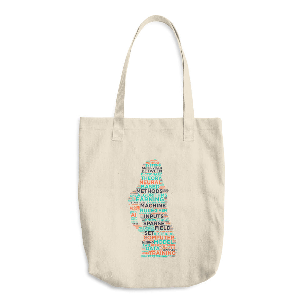 Machine Learning Woman Cotton Tote Bag