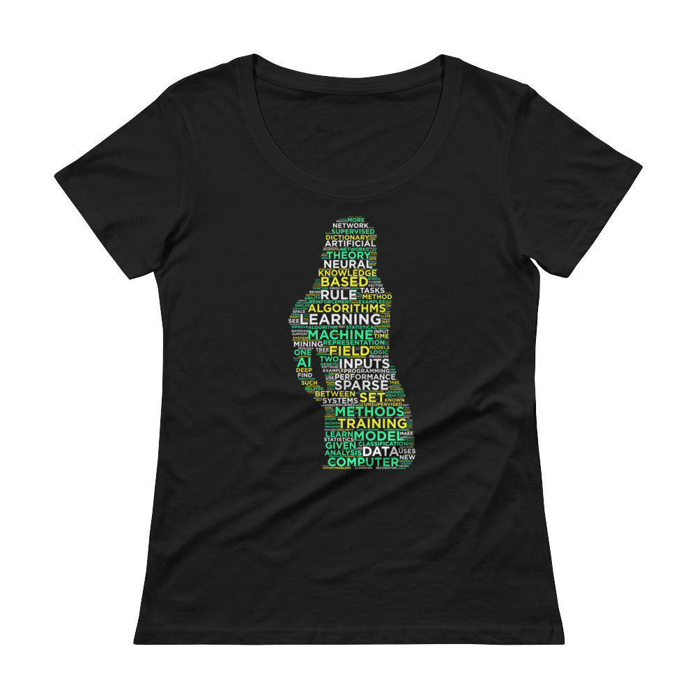Machine Learning Ladies' Scoopneck T-Shirt