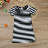 Stella Striped Short Sleeved Dress
