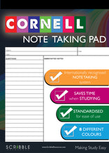 Load image into Gallery viewer, Cornell Note Taking Pad