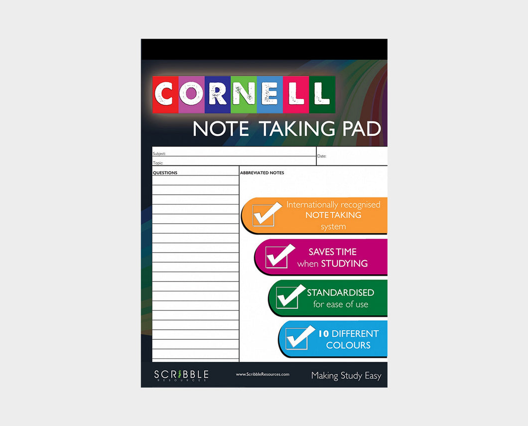Cornell Note Taking Pad