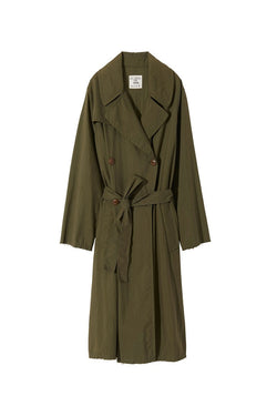 Benning Trench Coat in Army Green by Nili Lotan