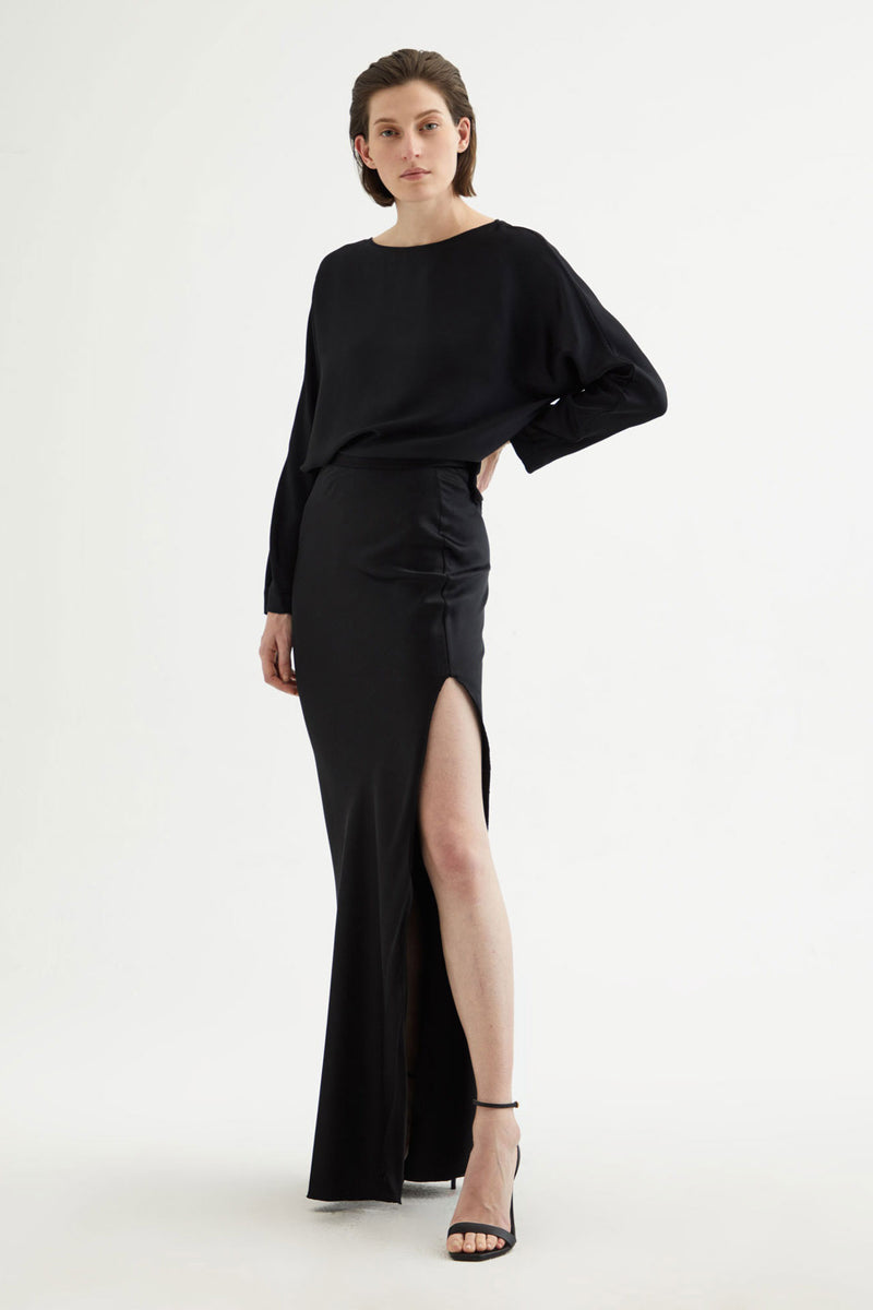 Azalea Skirt in Black by Nili Lotan