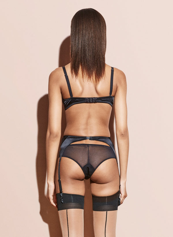 Black Satin Hiphugger by Fleur du Mal