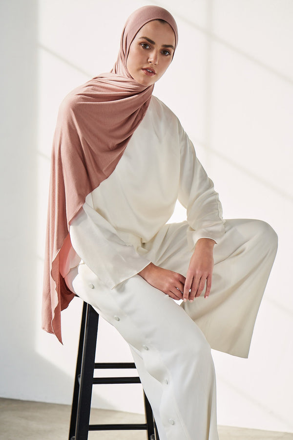 Premium Jersey Hijab in Rose Quartz