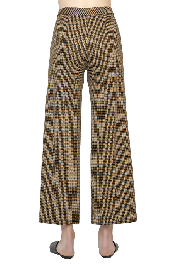 Brown straight leg pants with chevron pattern from Rosetta Getty