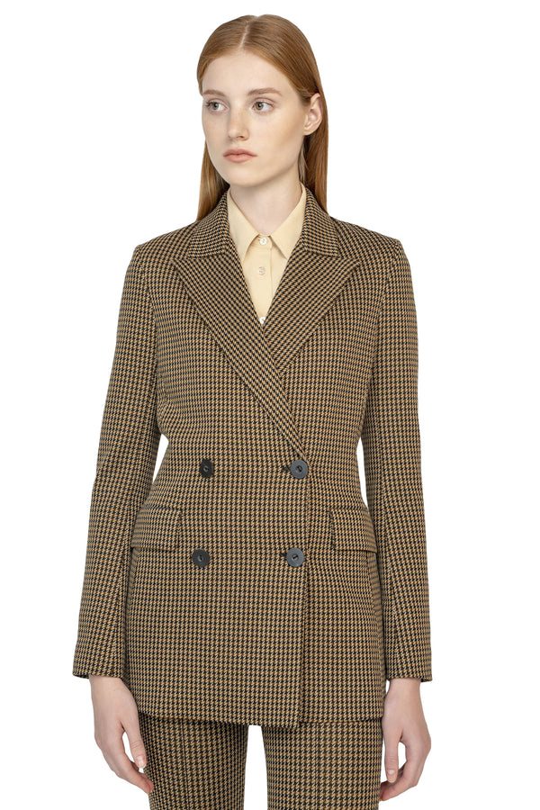 Brown button up suit jacket from Rosetta Getty