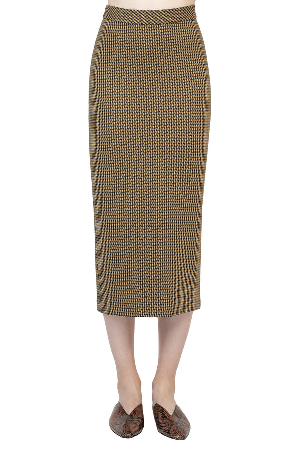 Brown chevron pattern maxi skirt from Rosetta Getty