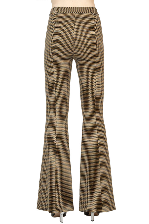 Brown checker pattern flared pant from Rosetta Getty