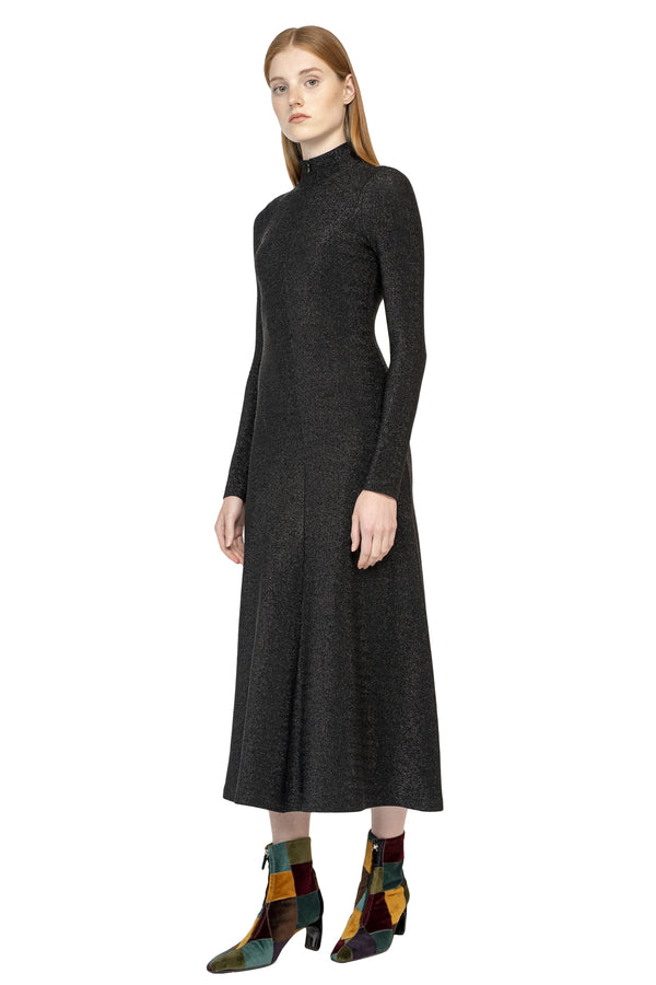 Black long sleeve turtleneck dress from Rosetta Getty