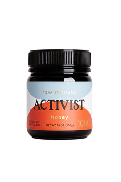 8.8 oz jar of Activist Manuka honey with 1000mg Methylglyoxal per kg