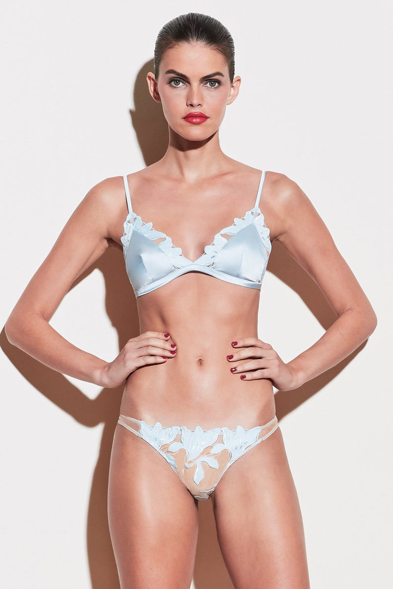 Lily Embroidery Cheeky in Glacier (Fleur du Mal)