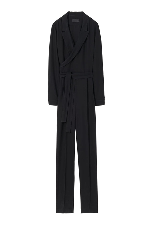 Black wool jumpsuit by Nili Lotan