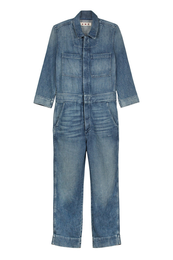 indigo Skip Denim Jumpsuit by AMO Denim