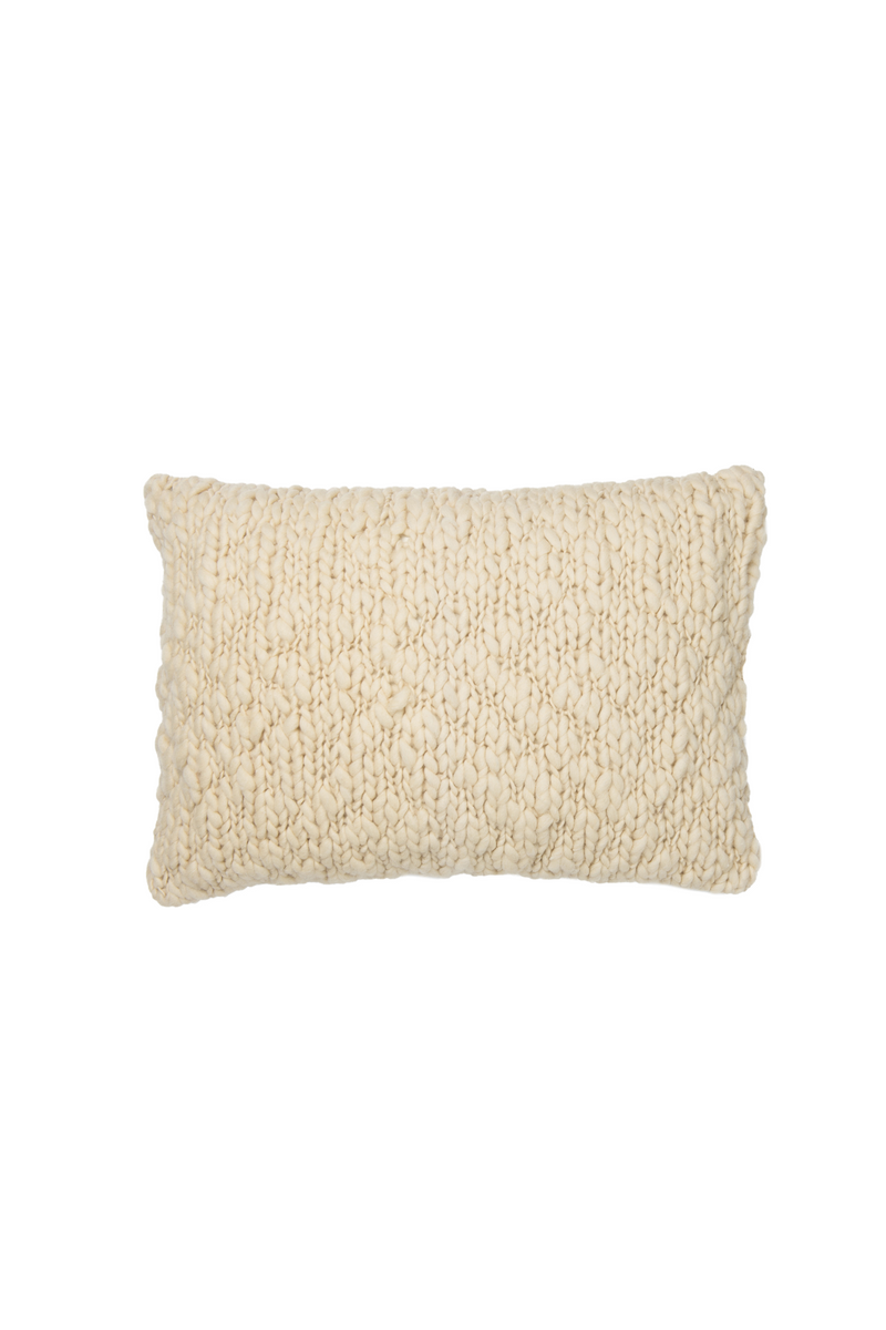 Andes Hand Knit Pillow in Ivory by Sien + Co