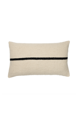 Campo Handwoven Pillow in Neutral and Black by Sien + Co