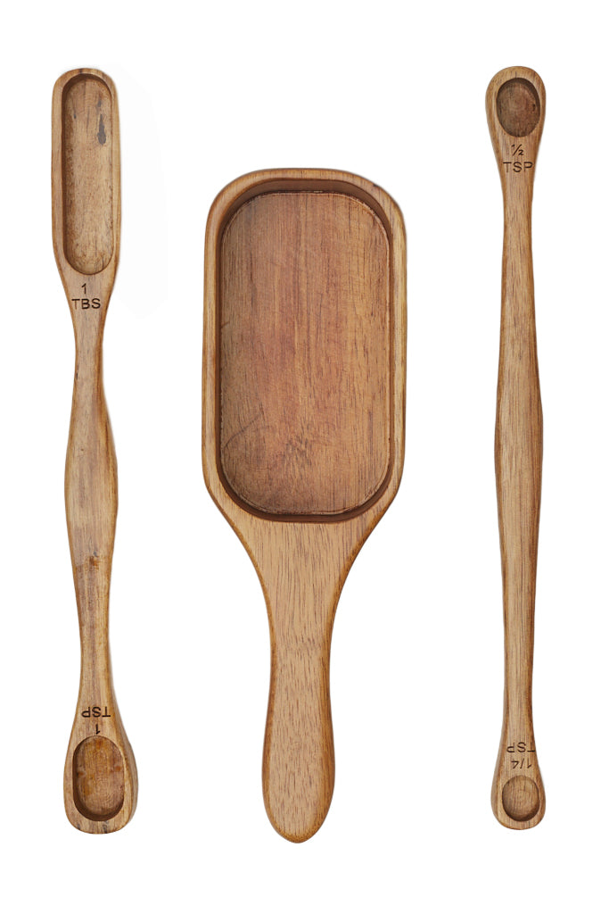 3-Piece Acacia Measuring Spoon Set