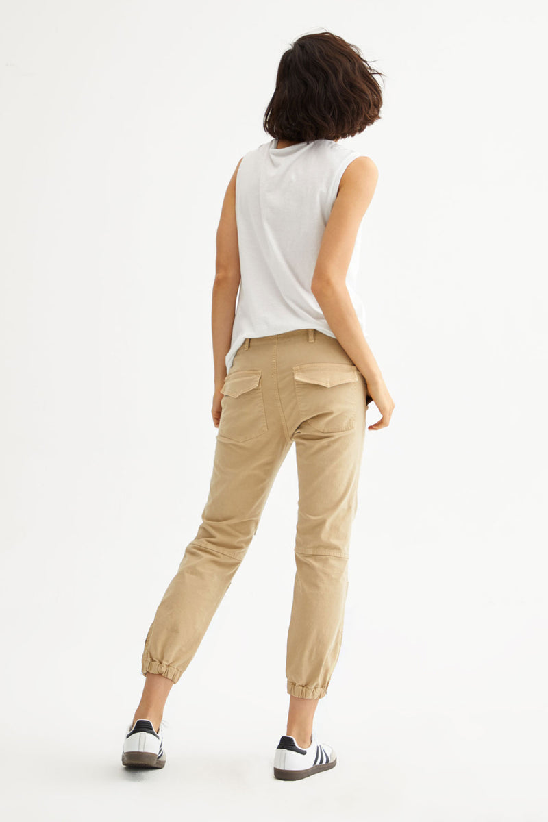 Cropped French Military Pant in Desert Sand by Nili Lotan