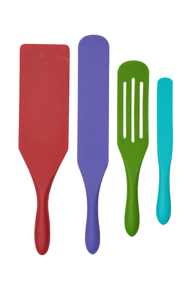 4-Piece Silicone Spurtle Set by Mad Hungry