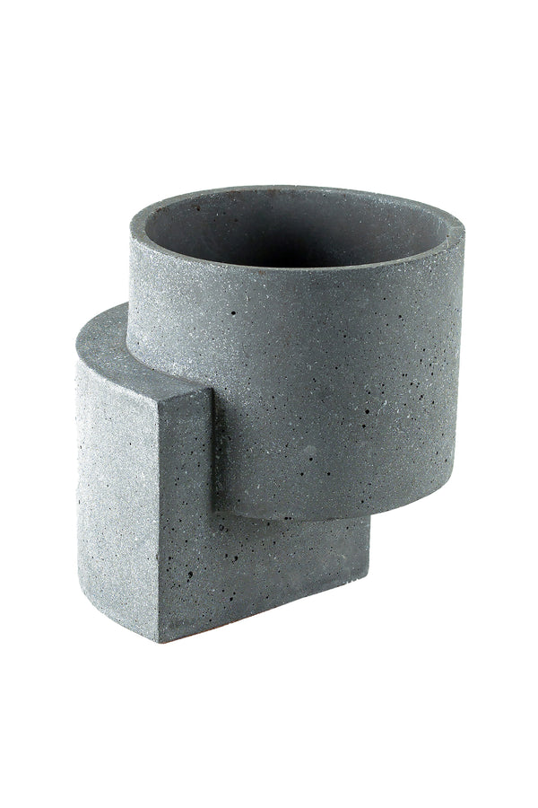 Medium Platform Planter in Graphite | Tortuga Living