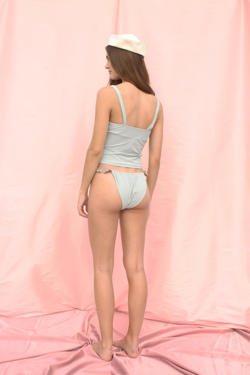 Ruffle Bottom in Powder Blue by Roxana Salehoun