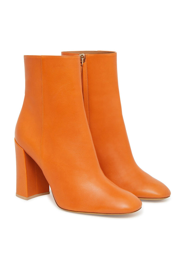Yellow Camel Leather Hidden Zipper Booties by Mansur Gavriel