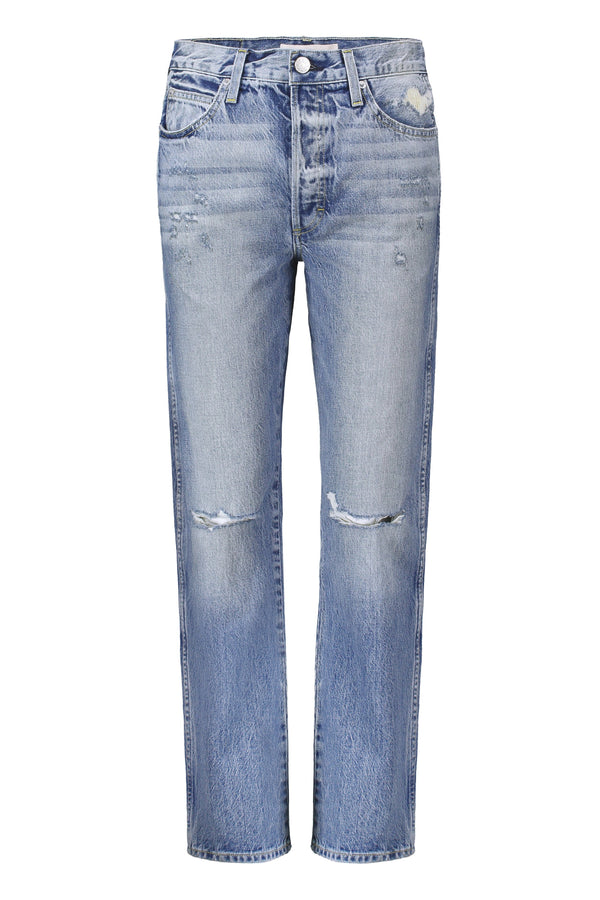 Layla straight leg destroyed jeans by AMO Denim
