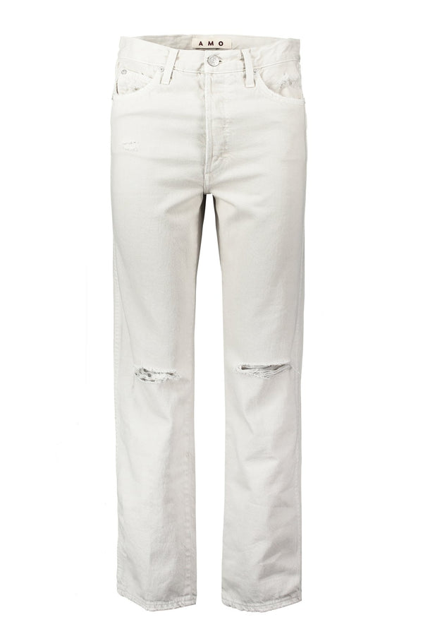 Layla Jeans in Vintage White with Destroy | A M O