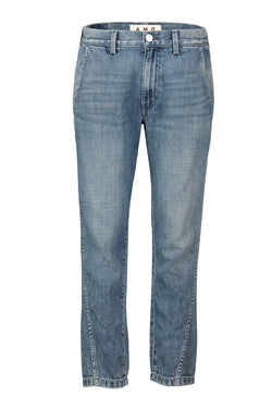 medium wash straight jean Slouch Trouser by AMO Denim
