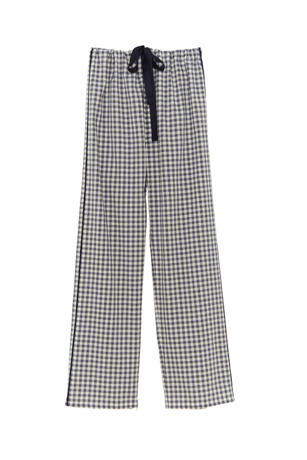 Gingham silk Ally Pajama pants by Araks