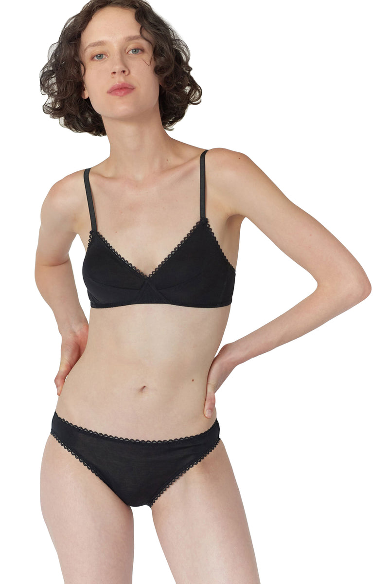 Black Antonia bralette by Araks