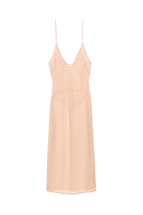 Nude Cadel slip dress by Araks