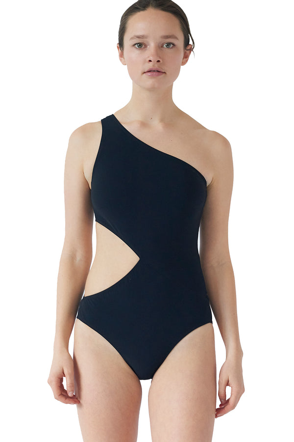 Black cutout Elmar one piece by Araks