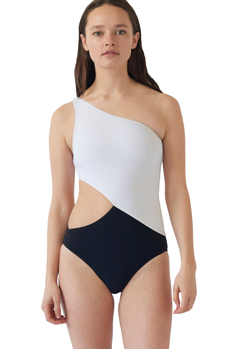 Black and white cutout Elmar one piece by Araks