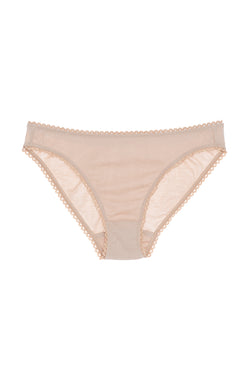 Nude cotton Isabella panty by Araks