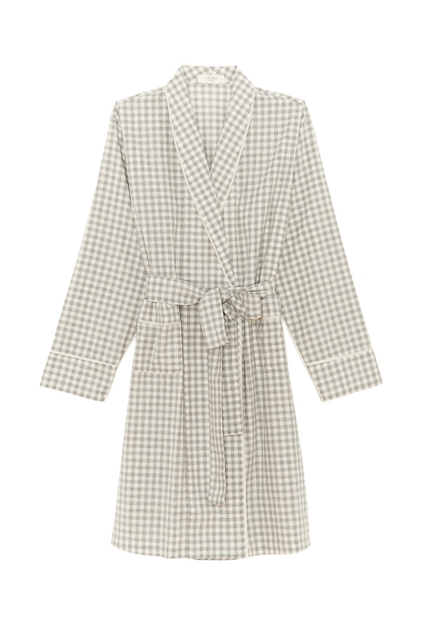 Gingham Kari bathrobe by Araks